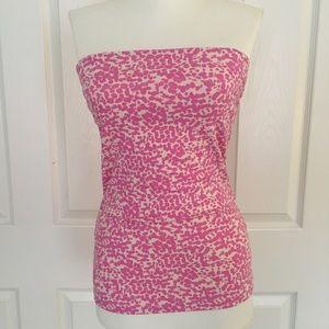 H&M • Pink Cheetah Strapless Tube Top
